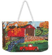 Fishing Under The  Covered Bridge Weekender Tote Bag