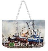 Fishing Vessel Ranger Drydock Weekender Tote Bag