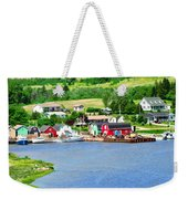 Fishing Village In Prince Edward Island Weekender Tote Bag