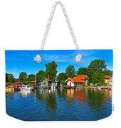 Fishing Village Of Vaxholm Sweden Weekender Tote Bag