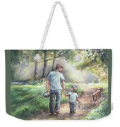 Fishing With My Dad  Weekender Tote Bag by Laurie Shanholtzer