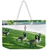 Fishing With The Geese Weekender Tote Bag