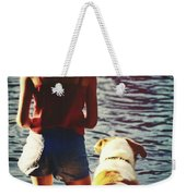 Fishing With The Pup Weekender Tote Bag
