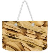 Fitted Wood Weekender Tote Bag