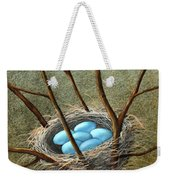 Five Blue Eggs Weekender Tote Bag