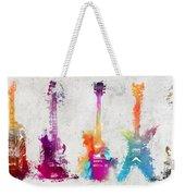 Five Colored Guitars Weekender Tote Bag