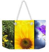 Five Flower Composite Weekender Tote Bag