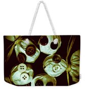 Five Halloween Dolls With Button Eyes Weekender Tote Bag