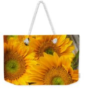 Five Moody Sunflowers Weekender Tote Bag