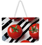 Five Tomatoes  Weekender Tote Bag by Garry Gay