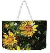 Five Yellow Flowers  Weekender Tote Bag