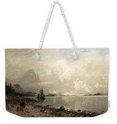 Fjord Landscape With Figures Weekender Tote Bag