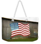 Flag And Barn - Painting Weekender Tote Bag