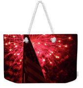 Flag And Fireworks Weekender Tote Bag
