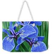 Flag Iris Blues Weekender Tote Bag