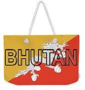 Flag Of Bhutan Word Weekender Tote Bag