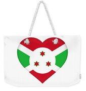 Flag Of Burundi Heart Weekender Tote Bag