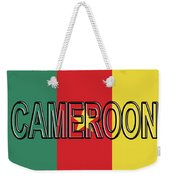 Flag Of Cameroon Word. Weekender Tote Bag