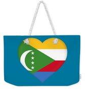 Flag Of  Comoros Heart Weekender Tote Bag