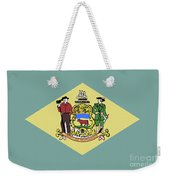 Flag Of Delaware Weekender Tote Bag