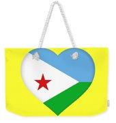 Flag Of Djibouti Heart Weekender Tote Bag