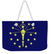 Flag Of Indiana Weekender Tote Bag