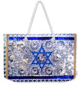 Flag Of Israel. Bead Embroidery With Crystals Weekender Tote Bag