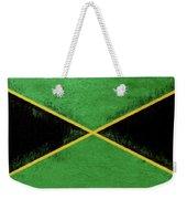 Flag Of Jamaica Grunge Weekender Tote Bag