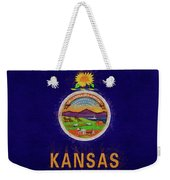 Flag Of Kansas Grunge Weekender Tote Bag