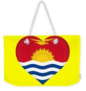 Flag Of Kiribati Heart Weekender Tote Bag