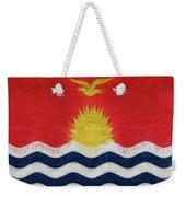 Flag Of Kiribati Texture Weekender Tote Bag