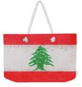 Flag Of Lebanon Grunge Weekender Tote Bag