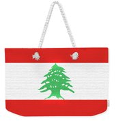 Flag Of Lebanon Wall Weekender Tote Bag