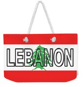 Flag Of Lebanon Word Weekender Tote Bag