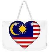 Flag Of  Malaysia Heart Weekender Tote Bag