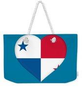 Flag Of Panama Heart  Weekender Tote Bag