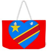 Flag Of The Congo Heart Weekender Tote Bag