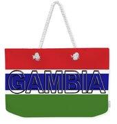 Flag Of The Gambia Word. Weekender Tote Bag