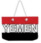 Flag Of The Yemen Word Weekender Tote Bag
