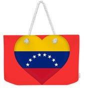 Flag Of Venezuela Heart  Weekender Tote Bag