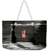 Flag On A Wentworth Barn  Weekender Tote Bag