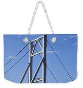 Flag On Perkins Cove Bridge - Maine Weekender Tote Bag