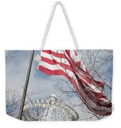 Flag Over Spokane Pavilion Weekender Tote Bag
