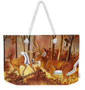Flagging Deer Weekender Tote Bag