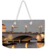 Flagler Bridge In Lights Iv Weekender Tote Bag