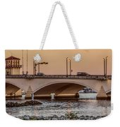 Flagler Bridge In The Evening IIi Weekender Tote Bag