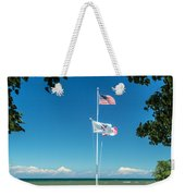 Flags On The Shoreline Weekender Tote Bag