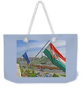 Flags Over Budapest Weekender Tote Bag