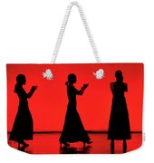 Flamenco Red An Black Spanish Passion For Dance And Rithm Weekender Tote Bag