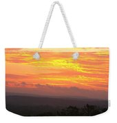 Flaming Autumn Sunrise Weekender Tote Bag